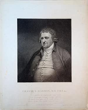 Stipple-engraved portrait by J. Heath after J. Rawlinson: Darwin, Erasmus