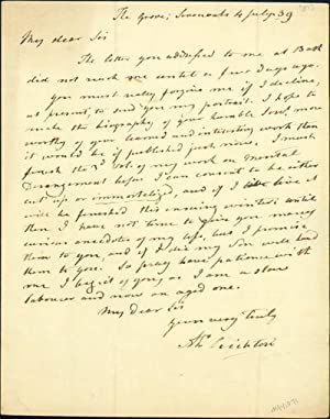 Autograph letter signed to Thomas J. Pettigrew: Crichton, Alexander