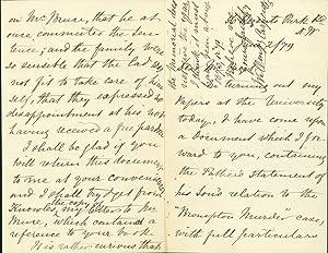 Autograph letter signed to Mr. [John] Paget: Carpenter, William B.