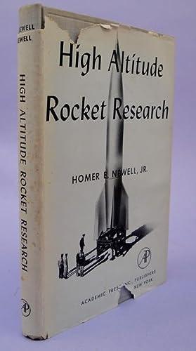 High altitude rocket research: Newell, Homer E.