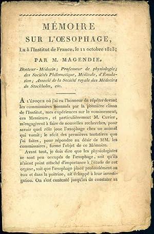 Memoire sur l'oesophage: Magendie, Franáois