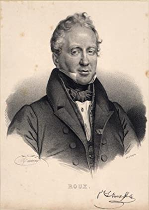 Lithographed portrait of Roux by Delpech after the drawing by Mauer: Roux, Philibert Joseph