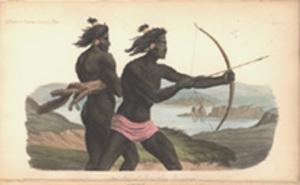 Hunters of the Bay of San Francisco. Hand-colored plate: San Francisco