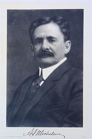 Photolithographic portrait, folio size: Michelson, Albert Abraham