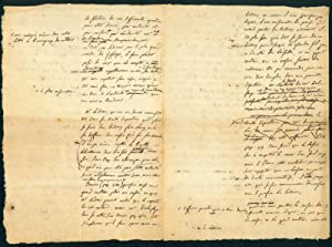 Autograph letter to M. Cabanis, 4pp. folio, discussing the type of knife to be used in a cancer ...