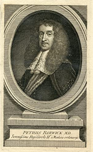 Serenissimo RegiCarolo II e Medicis ordinarys. Engraved Portrait by G. Vertue: Barwick, Peter