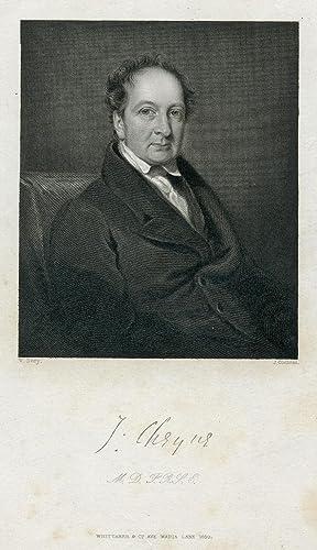 Engraved Portrait by J. Cochran after W. Deey: Cheyne, John