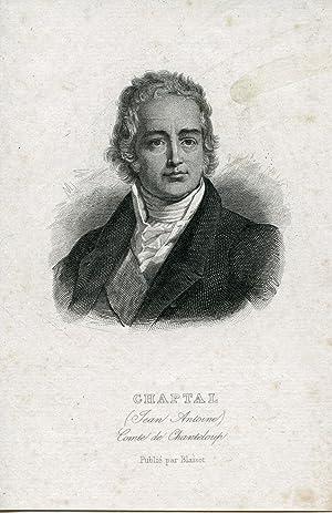 Comte de Chanteloup. Engraved Portrait: Chaptal, Jean Antoine