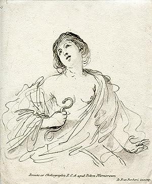 Ink Drawing by Jo. Fran. Barberi: Cleopatra
