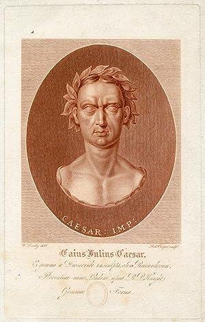 Engraved Portrait by Robert Cooper after W. Derby: Caesar, Julius