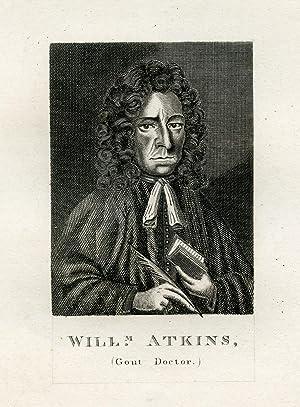 Gout Doctor. Engraved Portrait: Atkins, William