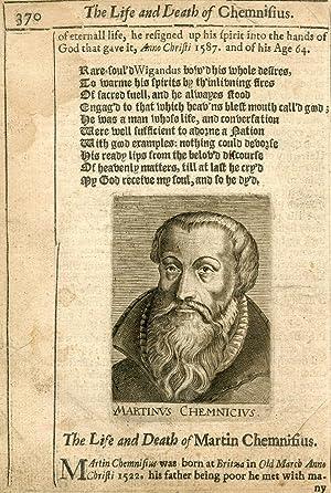 Engraved Portrait: Cheminisius, Martin