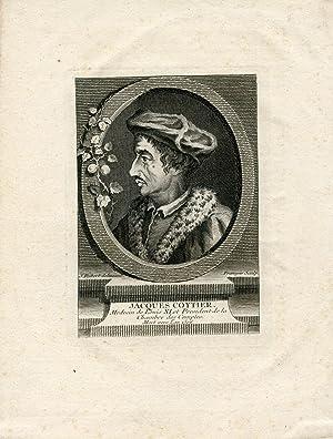 Medecin de Louis XI et President de la Chambre des Comptes. Engraved Portrait by Francois after J. ...