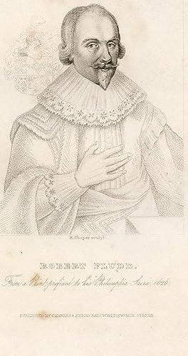 Engraved Portrait by R. Cooper: Fludd, Robert