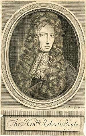 Engraved Portrait by M. Vander Gucht: Boyle, Robert