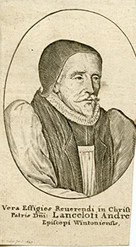 Engraved Portrait by Hollar, 1643: Andrewes, Lancelot, Bishop of Winchester