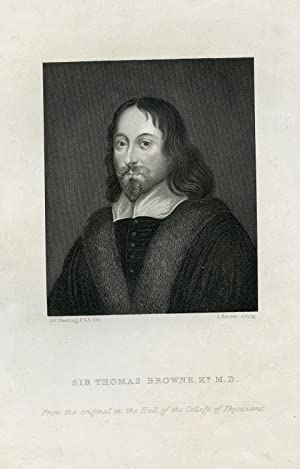 Engraved Portrait by J. Brown after G. P. Harding: Brown, Sir Thomas, MD