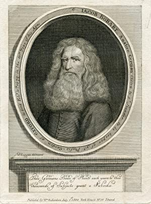 Engraved Portrait by D. Loggan: Bobart, Jacob