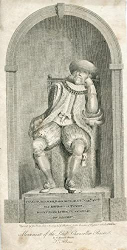 Baro de Verula St. Albani Vicecomes. Engraved Portrait by George Cooke after G. Shepherd: Bacon, ...