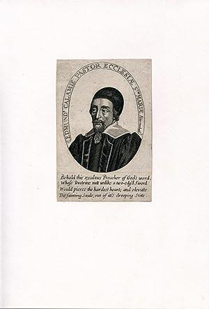 Pastor Ecclesiae St. Mariae Aldermanbure. Engraved Portrait: Calamy, Edmund