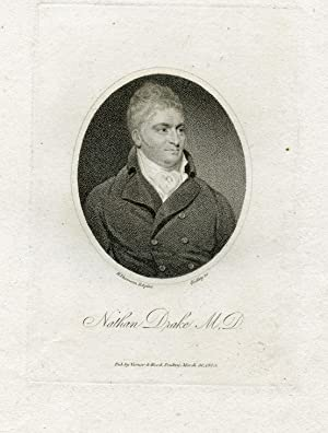Engraved Portrait by Ridley after H. Thomson: Drake, Nathan