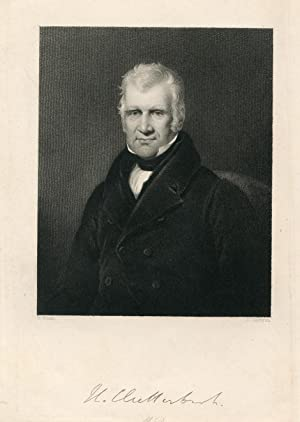 Engraved Portrait by J. Cochran after H. Room: Clutterbuck, William