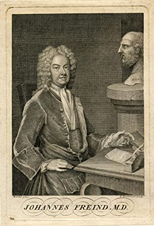 Engraved Portrait by P. Fourdrinier after M. Dhal: Freind, Johannes