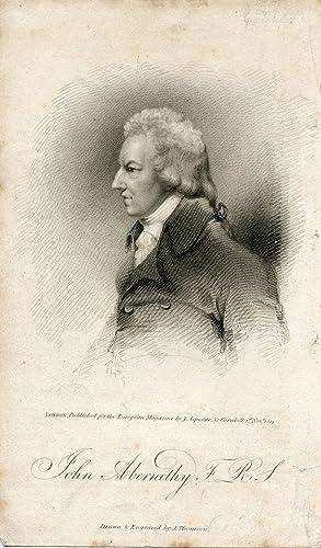 Engraved Portrait by J. Thomson. Published for the European Magazine by J. Asperne: Abernethy, John