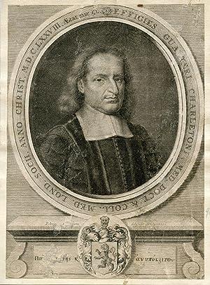 Engraved Portrait: Charleton, Walter