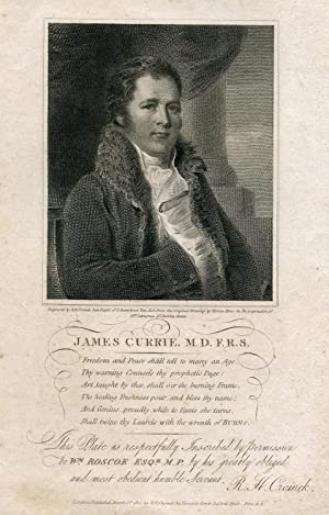 Engraved Portrait by R. H. Cromek after Horace Hone: Currie, James