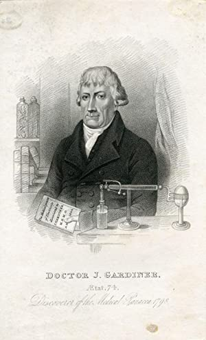 Discoverer of the Medical Panacea. Engraved Portrait: Gardiner, J.