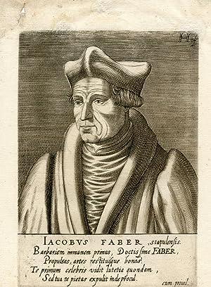 Engraved Portrait: Faber, Jacobus