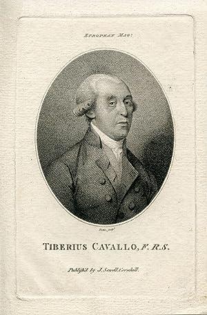 Engraved Portrait by Trotter. European Magazine: Cavallo, Tiberius