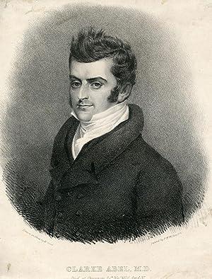 Lithograph Portrait by M. Gauci after P. W. Wilkins: Abel, Clarke