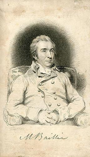 Engraved Portrait by Thomson after Hoppner: Baillie, Matthew