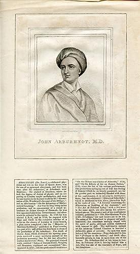 Engraved Portrait by I. Prescott: Arburhnot, John