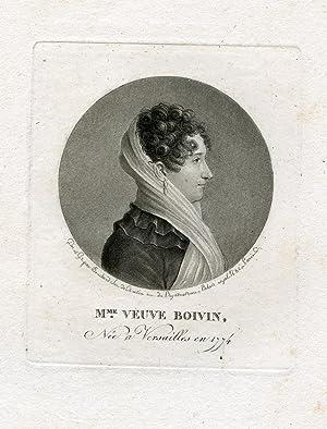 Engraved Portrait by Bouchard: Boivin, Mme. Veuve