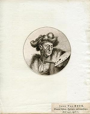 Engraved Portrait: Eyck, John Van