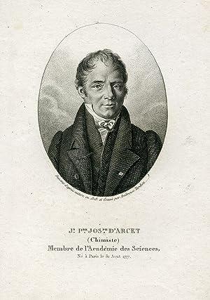 Membre de l'Academie des Sciences. Engraved Portrait by Ambroise Tardieu: Arcet, Jean Pierre ...