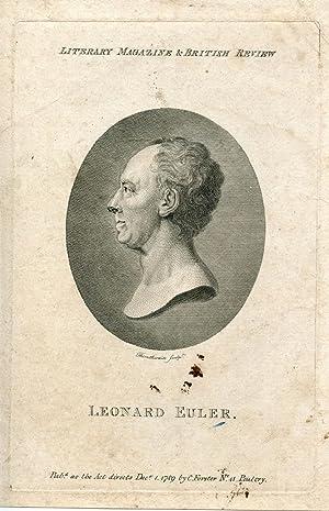 Engraved Portrait by Thornthwaite: Euler, Leonard