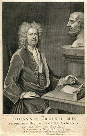 Engraved Portrait by G. Vertue after M. Dhal: Freind, John