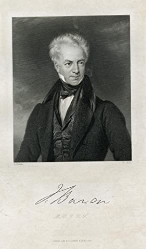 Engraved Print by W. Holl after H. Room: Baron, J.