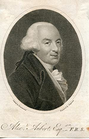 Engraved Portrait by Chapman after Drummond: Aubert, Alex