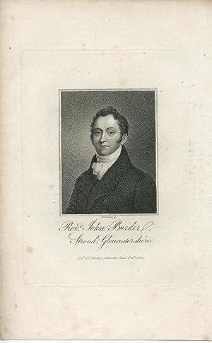 Engraved Portrait by Freeman: Burder, John