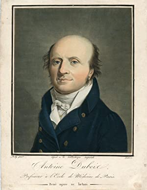 Professeur a l'Ecole de Medecin de Paris. Hand Colored Engraved Portrait by Gautier after ...