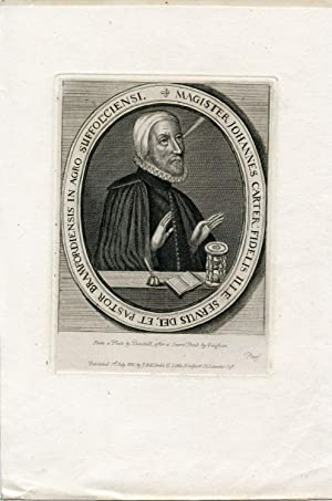 Engraved Portrait by Dunstall after Vaughan: Carter, Johannes