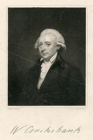 Engraved Portrait by W. & F. Holl after Gabriel Stuart: Cruikshank, William
