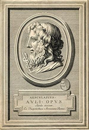 Auli Opus Sarde incisum Ex Dactytiotheca Strozziana Romae. Engraved Portrait by B. Picart: ...