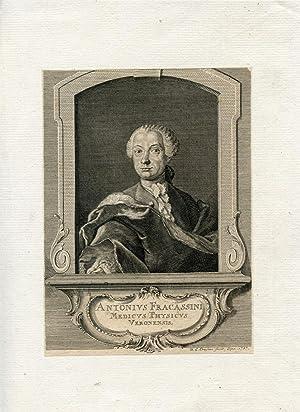 Medicus Physicus Veronensis. Engraved Portrait by Crusius: Fracassini, Antonius