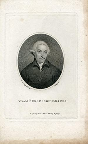 Engraved Portrait by Ridley after J. Reynolds: Fergusson, Adam